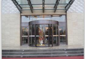 酒店旋转铜门